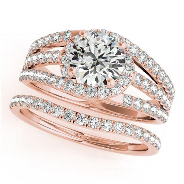 1.15 ctw Certified VS/SI Diamond 2pc Wedding Set 14k Rose Gold - REF-114Y5X