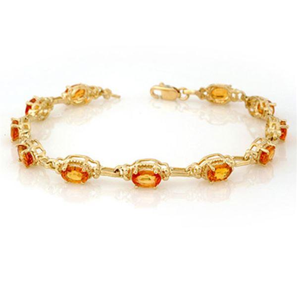 8.0 ctw Yellow Sapphire Bracelet 10k Yellow Gold - REF-81X8A