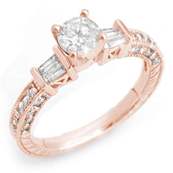 1.08 ctw Certified VS/SI Diamond Ring 14k Rose Gold - REF-117W3H