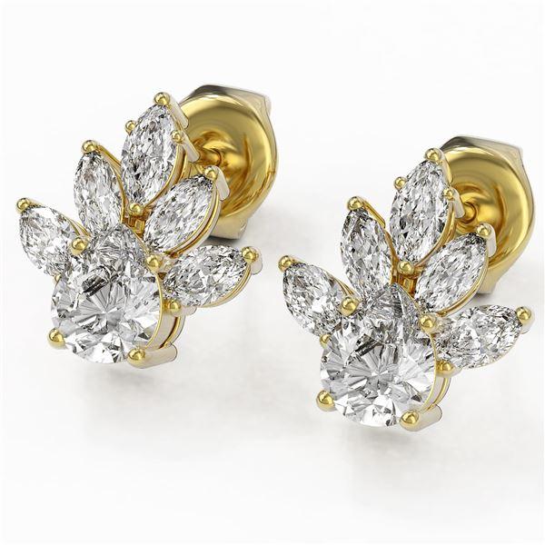 1.75 ctw Pear Cut Diamond Designer Earrings 18K Yellow Gold - REF-168A8N