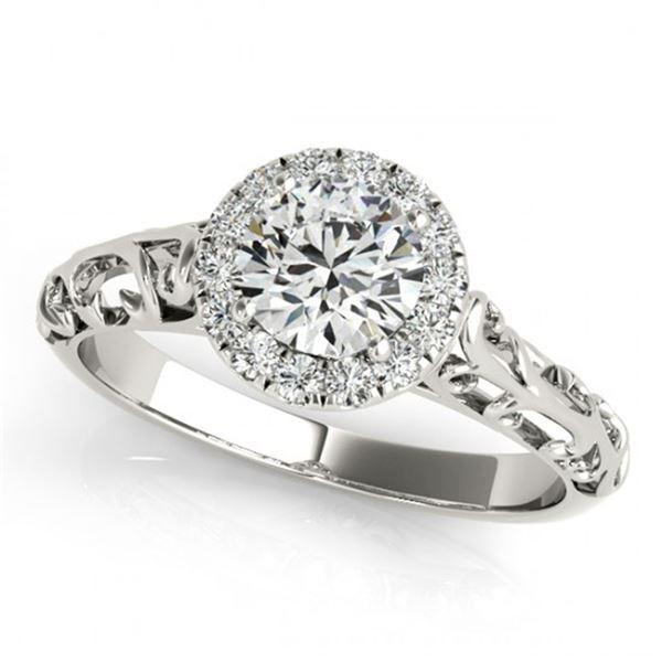 0.62 ctw Certified VS/SI Diamond Antique Ring 18k White Gold - REF-82W8H