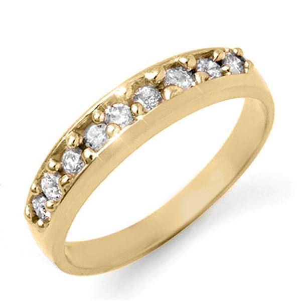 0.50 ctw Certified VS/SI Diamond Ring 18k Yellow Gold - REF-48H8R