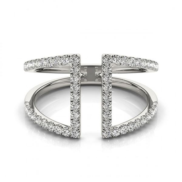 0.75 ctw VS/SI Diamond Fashion Ring 14k White Gold - REF-52G9W