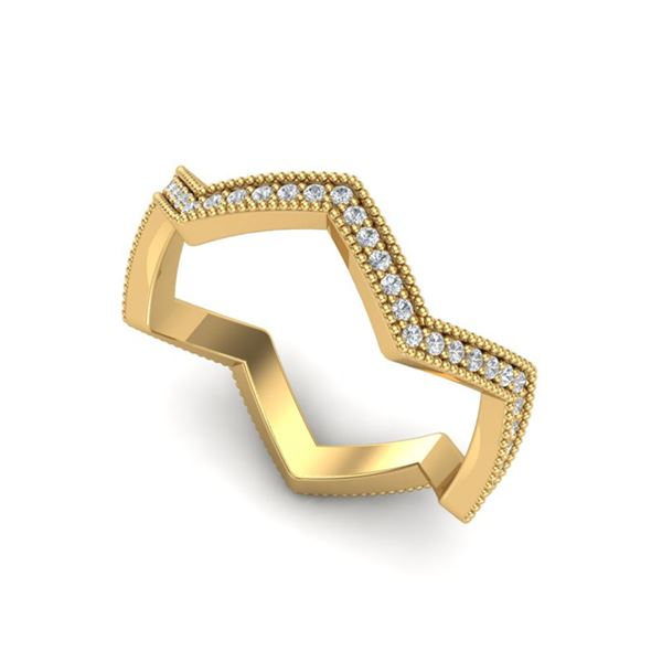 0.42 ctw Micro Pave VS/SI Diamond Eternity Ring 18k Yellow Gold - REF-29N6F