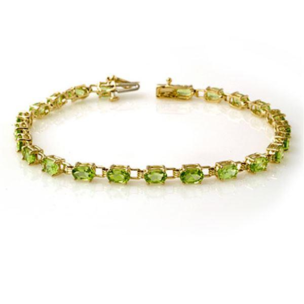 6.0 ctw Peridot Bracelet 10k Yellow Gold - REF-53R5K