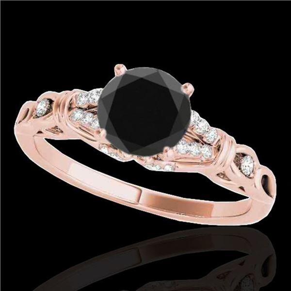 1.2 ctw Certified VS Black Diamond Solitaire Ring 10k Rose Gold - REF-39R3K