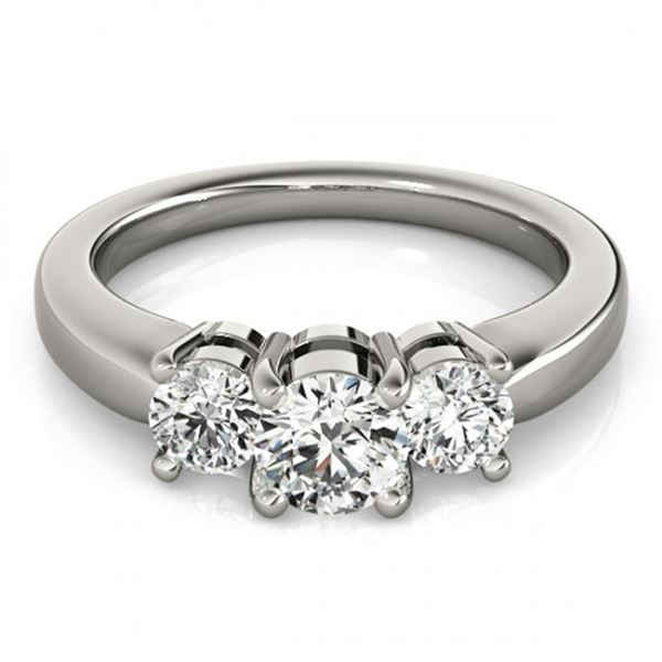 0.5 ctw Certified VS/SI Diamond 3 Stone Ring 14k White Gold - REF-51Y5X