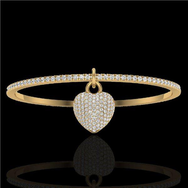 3.50 ctw Eternity Micro Pave Diamond Eternity Bangle 14k Yellow Gold - REF-259X6A