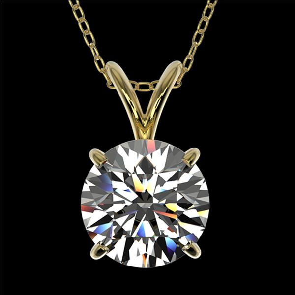 1.55 ctw Certified Quality Diamond Necklace 10k Yellow Gold - REF-224H8R