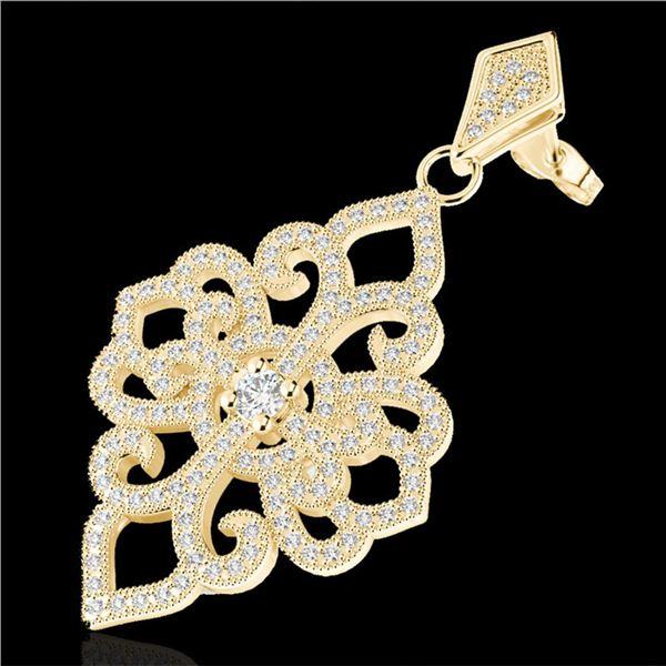 2.50 ctw Micro Pave VS/SI Diamond Designer Earrings 14k Yellow Gold - REF-236R4K