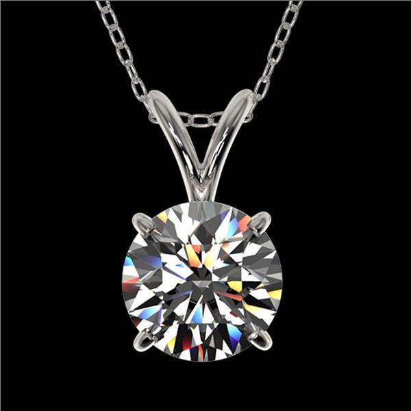 1.01 ctw Certified Quality Diamond Necklace 10k White Gold - REF-141Y3X