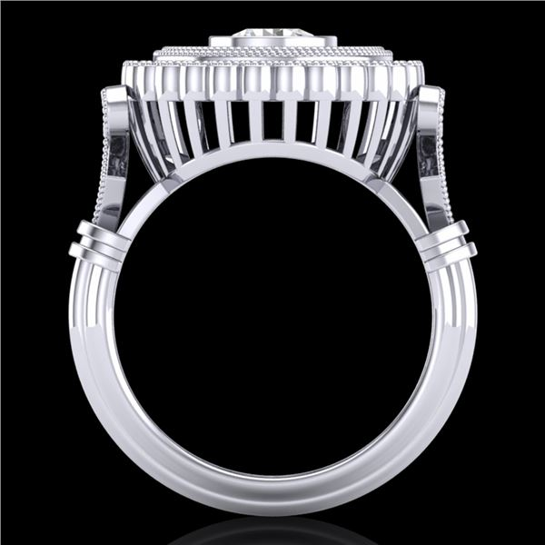 2.03 ctw VS/SI Diamond Solitaire Art Deco Ring 18k White Gold - REF-270K2Y