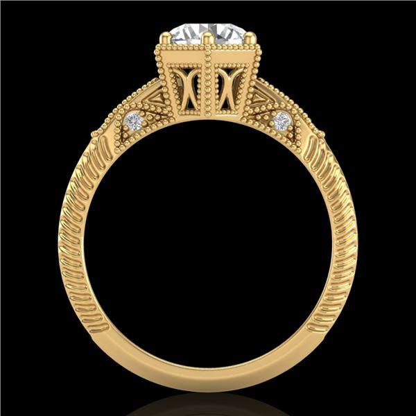 1.17 ctw VS/SI Diamond Solitaire Art Deco Ring 18k Yellow Gold - REF-381N8F