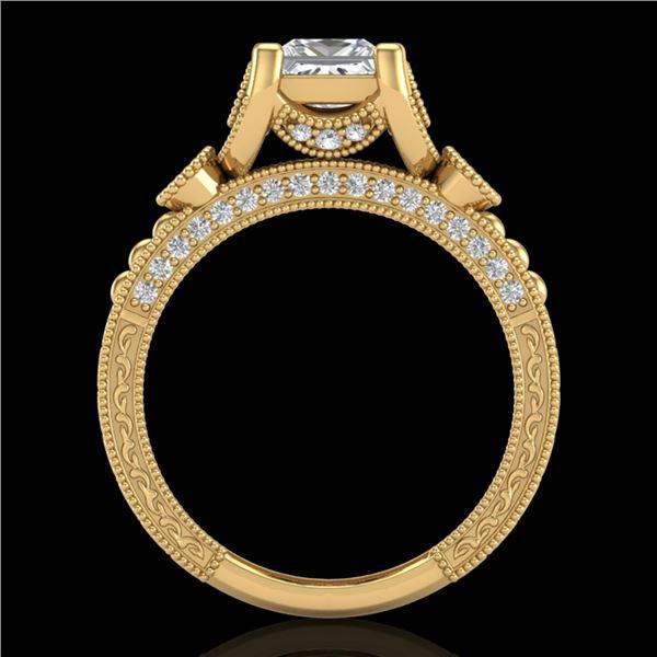 1.75 ctw Princess VS/SI Diamond Art Deco Ring 18k Yellow Gold - REF-445K5Y