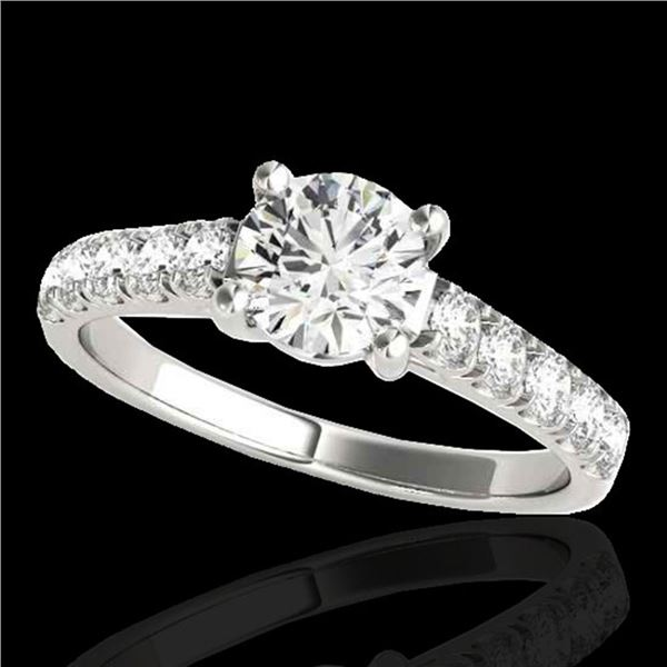 2.1 ctw Certified Diamond Solitaire Ring 10k White Gold - REF-368K2Y