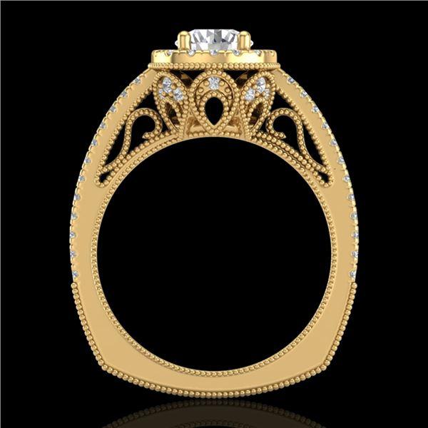1.55 ctw VS/SI Diamond Solitaire Art Deco Ring 18k Yellow Gold - REF-263X6A