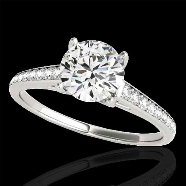 2 ctw Certified Diamond Solitaire Ring 10k White Gold - REF-361N4F