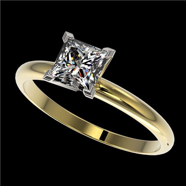 1 ctw VS/SI Quality Princess Diamond Engagment Ring 10k Yellow Gold - REF-243F2M