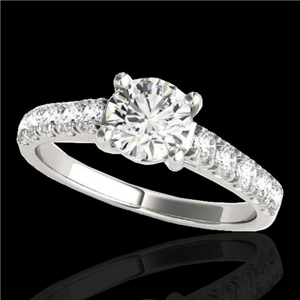 1.55 ctw Certified Diamond Solitaire Ring 10k White Gold - REF-245G5W
