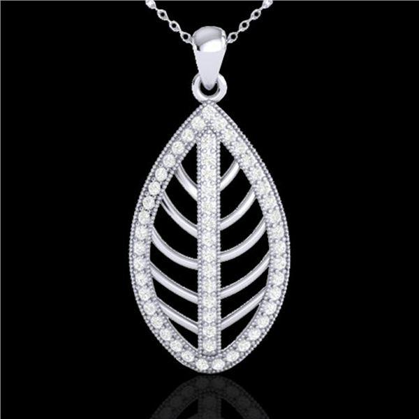 1 ctw Micro Pave VS/SI Diamond Designer Necklace 18k White Gold - REF-100W2H