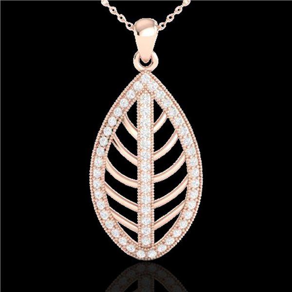 1 ctw Micro Pave VS/SI Diamond Designer Necklace 14k Rose Gold - REF-84M8G