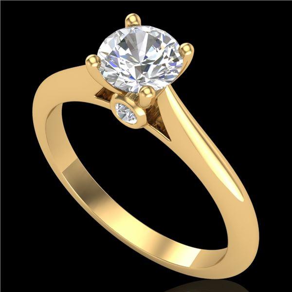 0.83 ctw VS/SI Diamond Solitaire Art Deco Ring 18k Yellow Gold - REF-116N6F