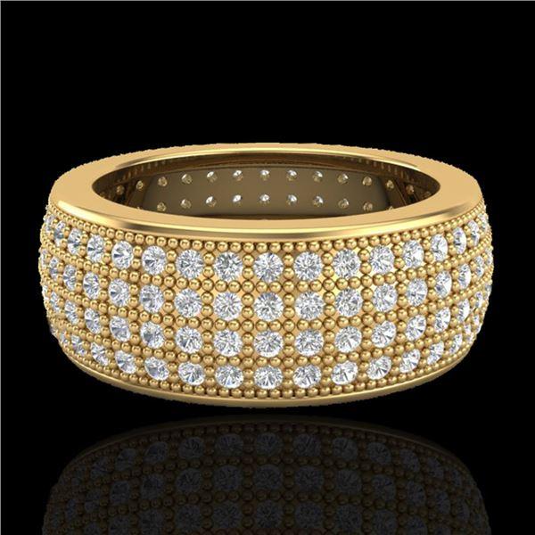 2.50 ctw Micro Pave VS/SI Diamond ERERNITY Ring .5 18k Yellow Gold - REF-249Y3X