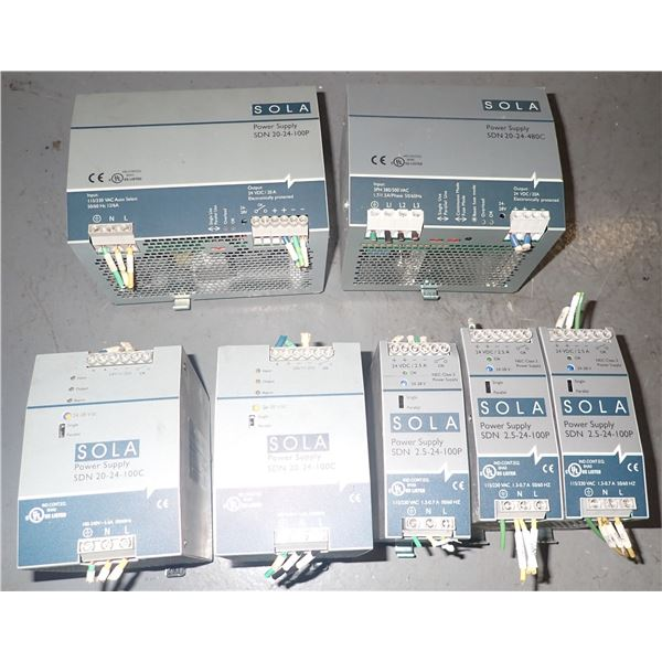 Lot of SOLA Power Supplies