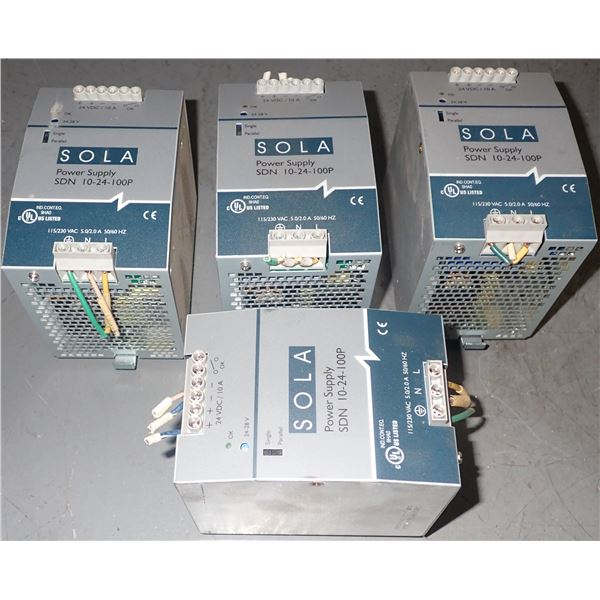 Lot of SOLA #SDN 10-24-100P Power Supplies