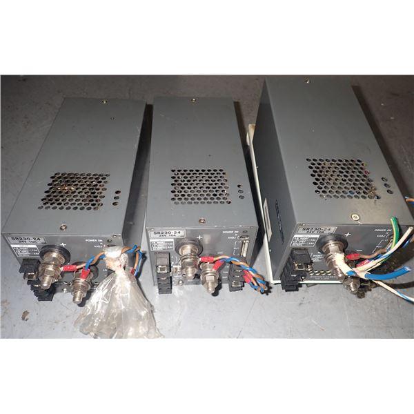 Lot of (3) NEMIC LAMBDA #SR230-24 POWER SUPPLIES