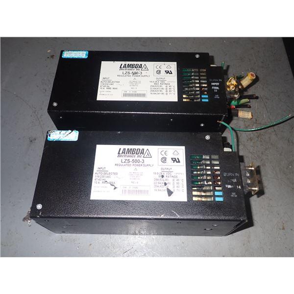 Lot of (2) NEMIC LAMBDA #LZS-500-3 POWER SUPPLIES