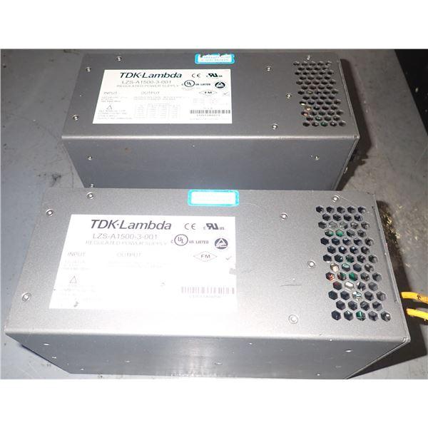 Lot of (2) NEMIC LAMBDA #LZS-A1500-3-001 POWER SUPPLIES