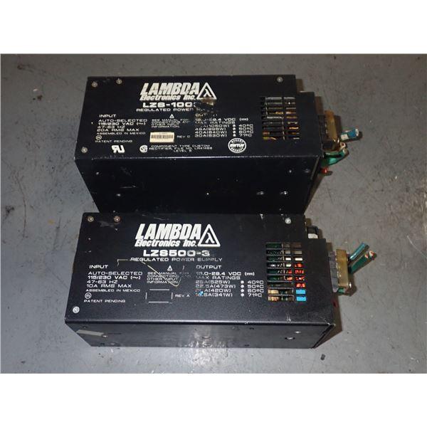 Lot of (2) LAMBDA POWER SUPPLIES