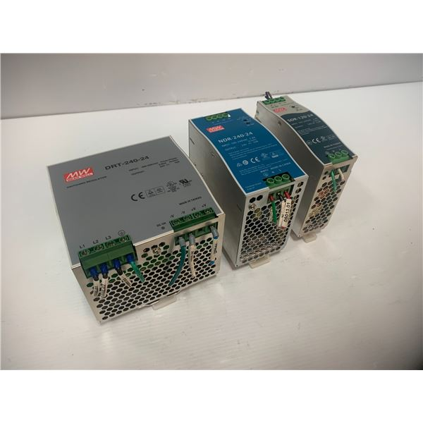 Lot of MEAN WELL Power Supplies  (see pics)