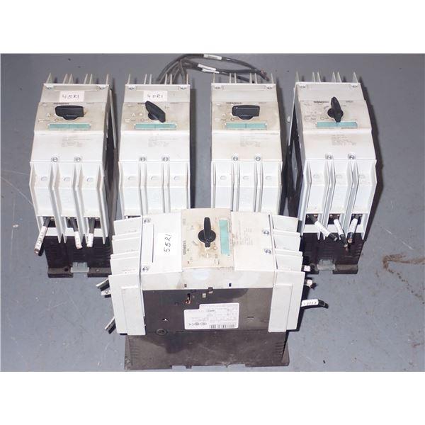 Lot of (5) Siemens #3RV1742-5ED10 Circuit breakers