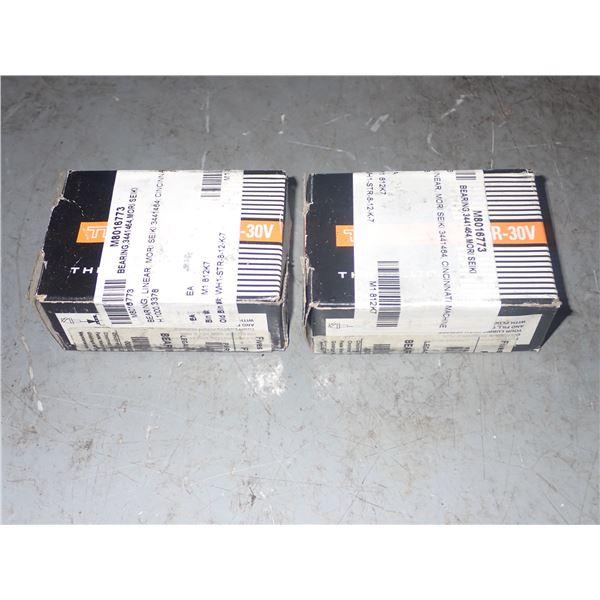Lot of (2) THK #SR-30V Linear Bearing Blocks