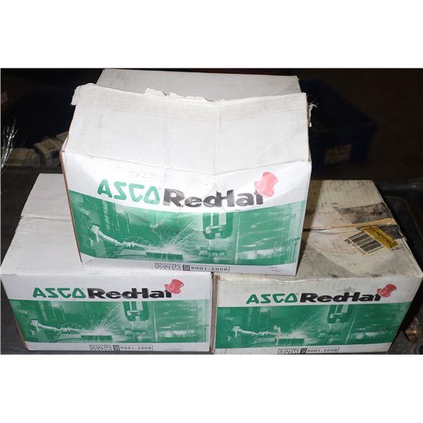 Lot of (3) Asco #8210G056 Solenoid Valves