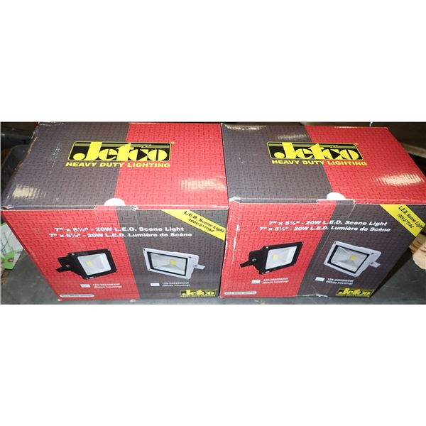 Lot of (2) UNUSED Jetco 20W LED Lights