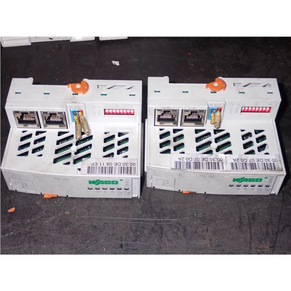 Lot of (2) WAGO #750-352 Ethernet Couplers