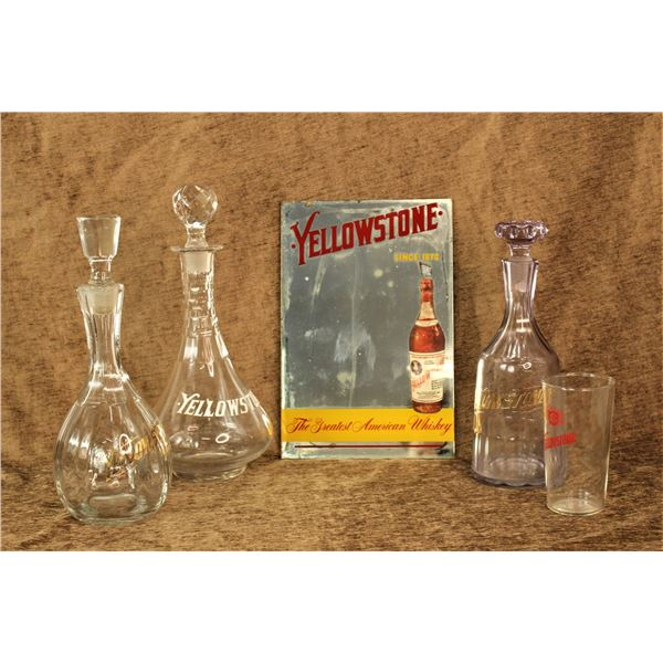 Group of Yellowstone Whiskey Items