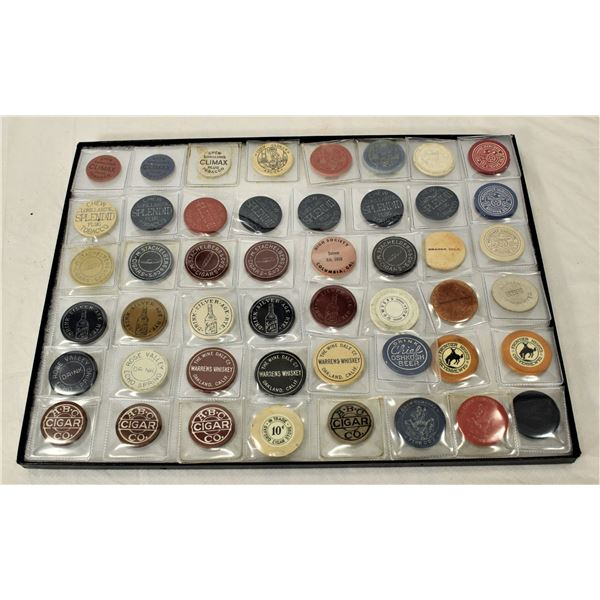 Group of Saloon Chips and Tokens