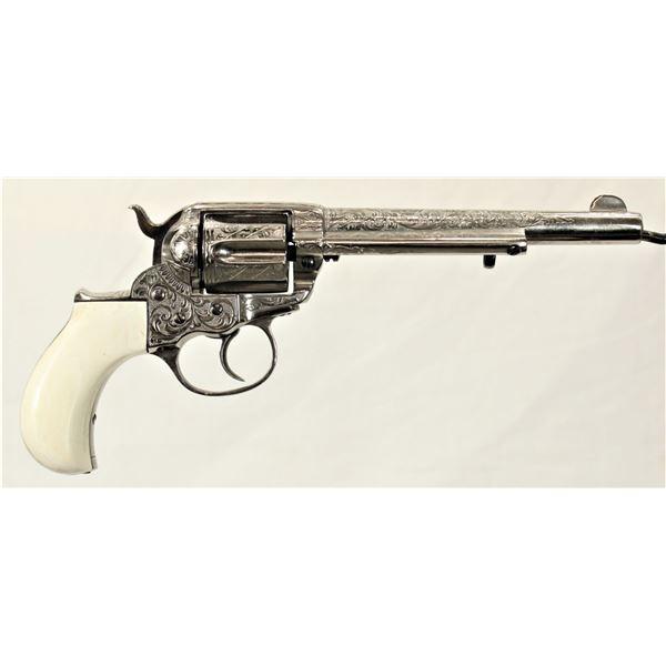 Engraved 1877 Colt Thunderer Revolver