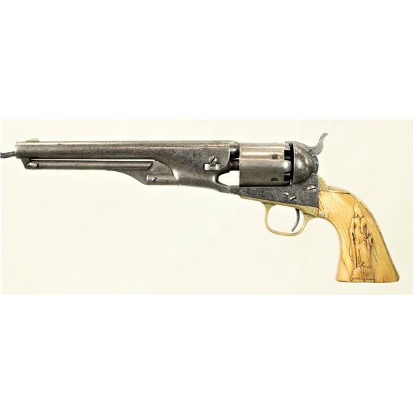 Engraved Colt 1861 Navy Revolver