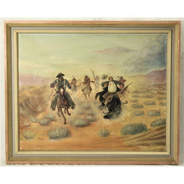 Joe Beeler Oil Painting