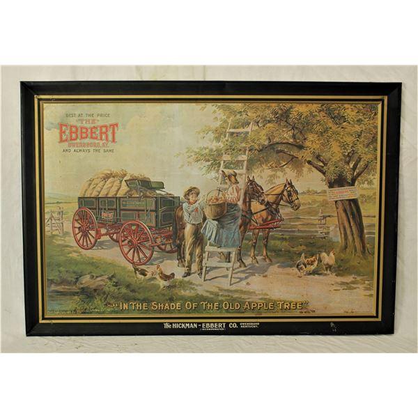 Vintage Ebbert Wagon Advertising Sign