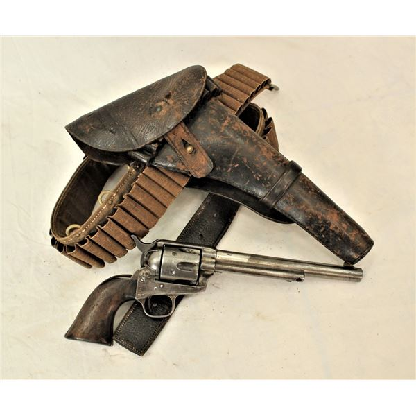 """Documented US Inspected Colt Single Action Army Cavalry Model """"Buyback"""" Revolver with Rare """"Ropes Ho"""