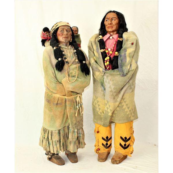 Pair of Skookum Dolls