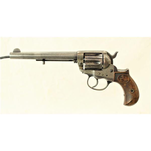 Outlaw Inscribed Colt 1877 Lightning Revolver