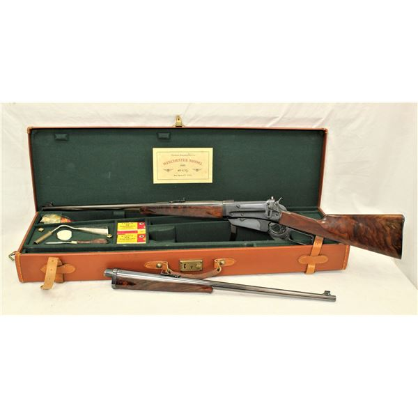 Cased Deluxe Two Barrel Set Winchester 1895 Rifle