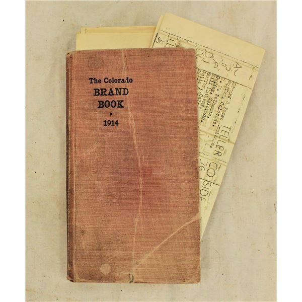 Colorado 1914 Livestock Brand Book